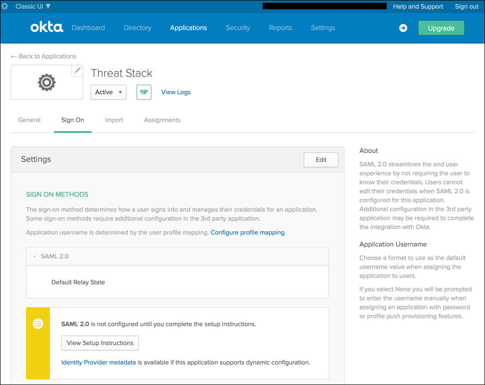 How To Configure SSO in Threat Stack – Threat Stack, Inc